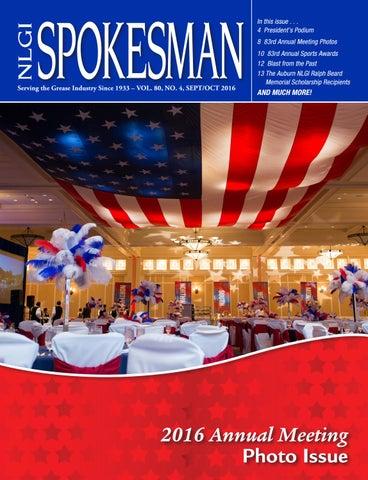 September / October 2016 NLGI Spokesman by Crystal O'Halloran - issuu