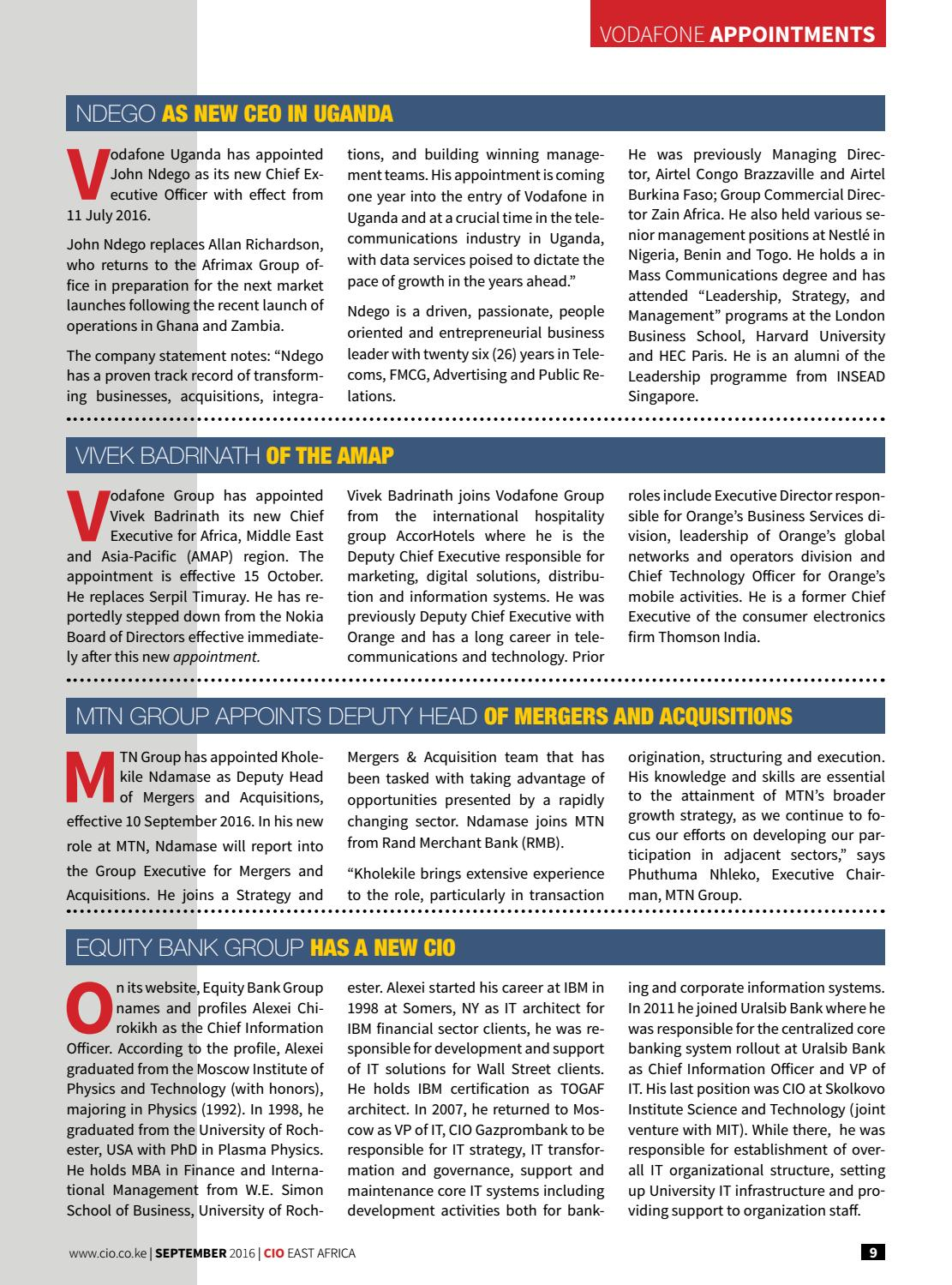 CIO East Africa September 2016 Edition by CIO East Africa - issuu