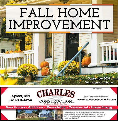 2016 Fall Home Improvement Guide By West Central Tribune Issuu