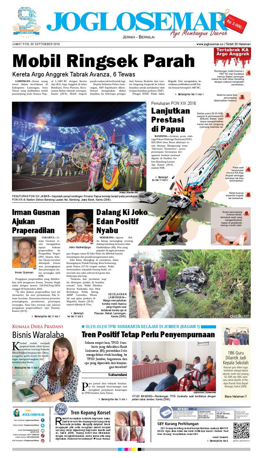 E Paper 30 September 2016 By Pt Joglosemar Prima Media Issuu Kartu Kemat Listrik