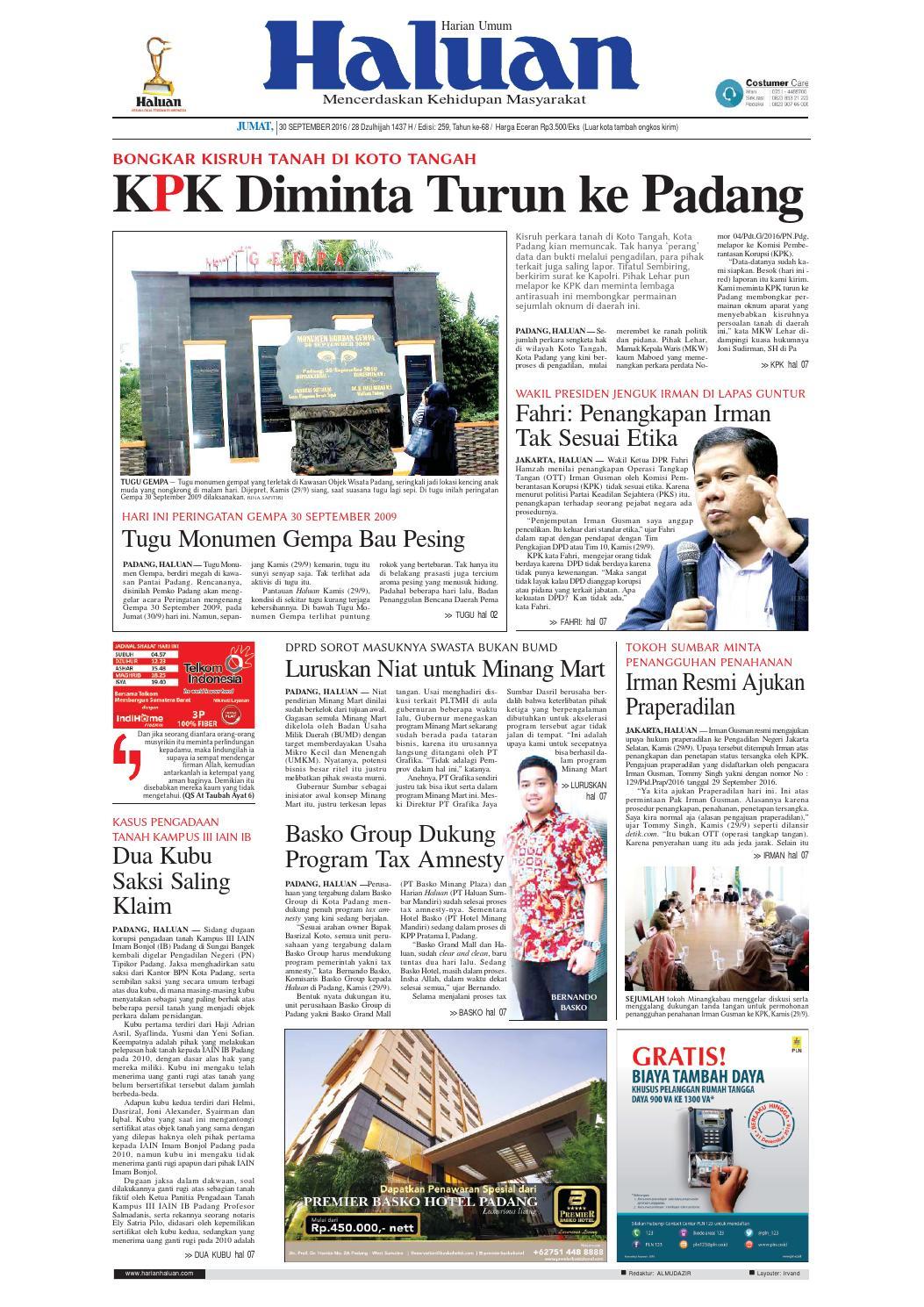 Haluan 30 September 2016 By Harian Issuu Produk Ukm Bumn Bahan Songket Sulam Katun Merah