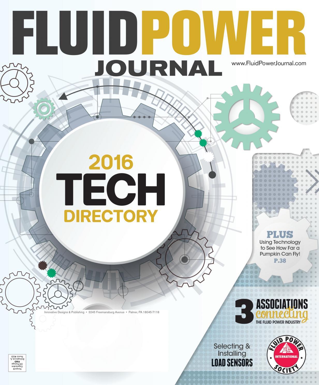 Fluid Power Journal Tech Directory 2016 by Innovative