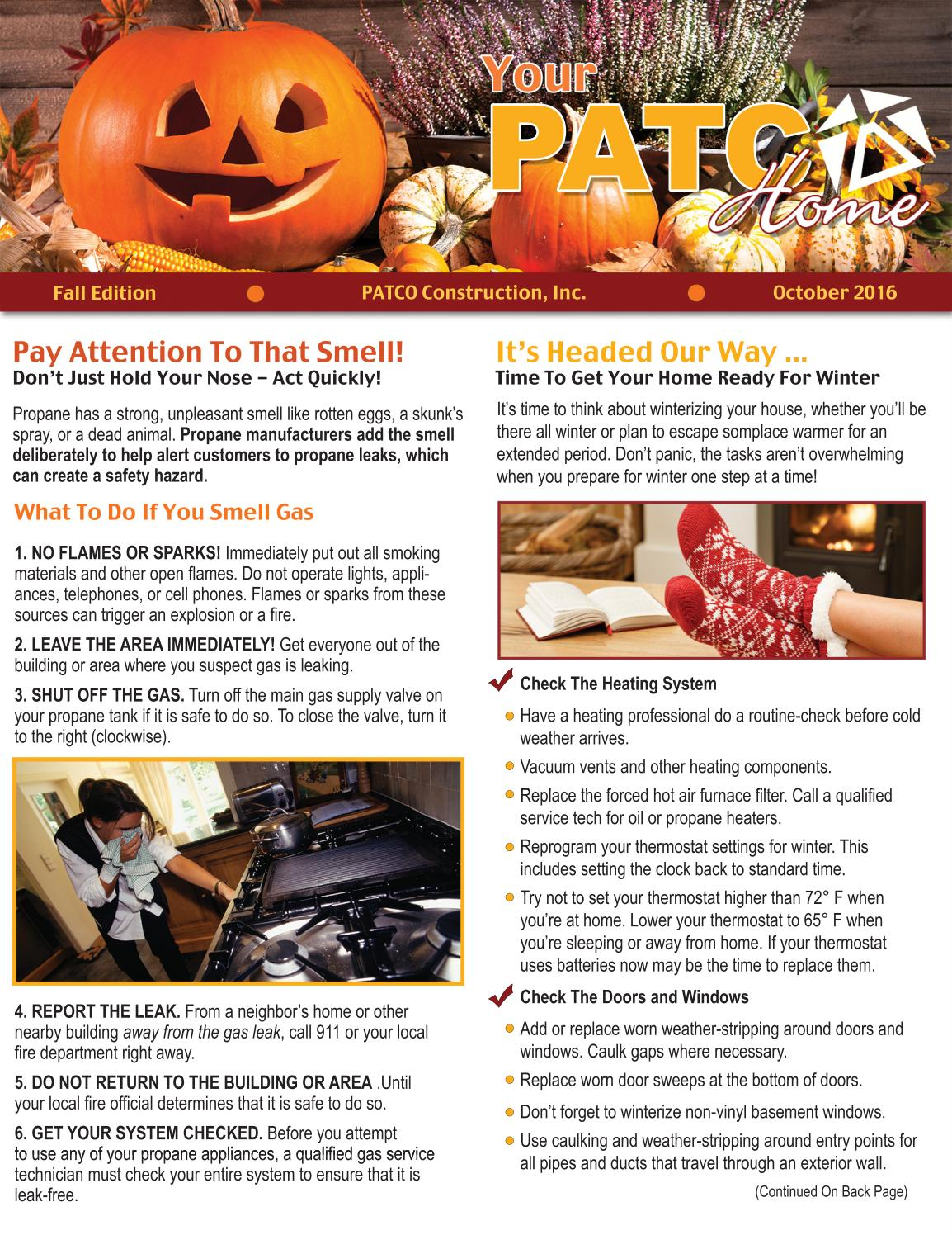 Your PATCO Home Fall 2016 by PATCO Construction, Inc  - issuu