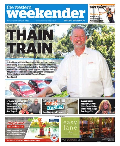weekender the western Friday, September 30, 2016 • FREE