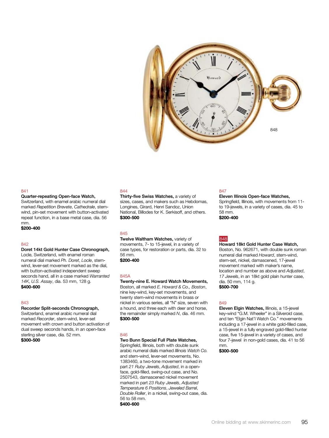 Clocks, Watches & Scientific Instruments | Skinner Auction 2946M by