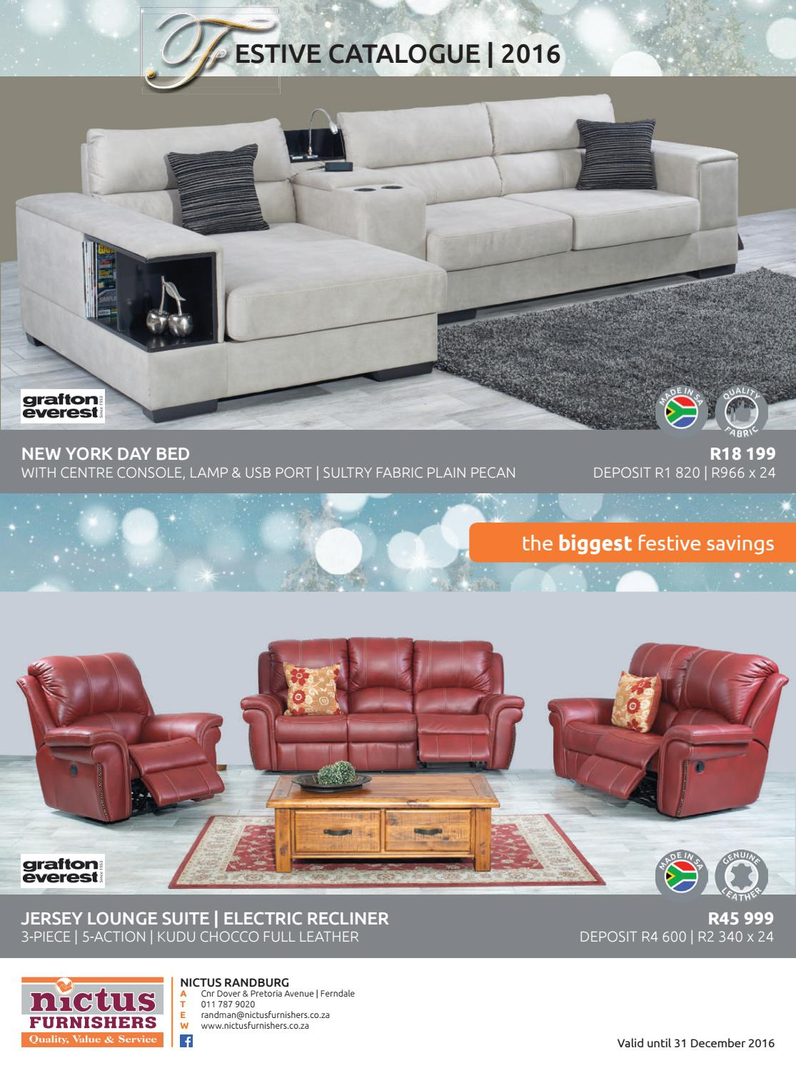 Nictus Gauteng Festive Catalogue 2016 By Nictus Furnishers