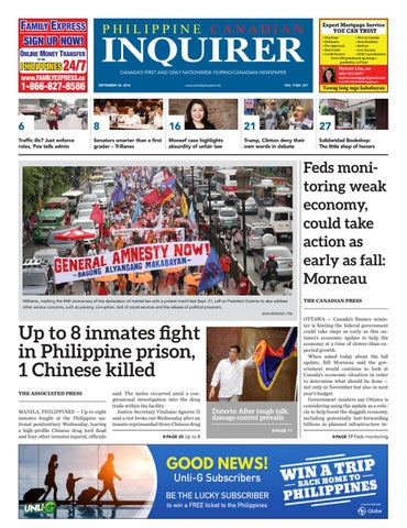 8230113e77 CANADA S FIRST AND ONLY NATIONWIDE FILIPINO-CANADIAN NEWSPAPER SEPTEMBER  30
