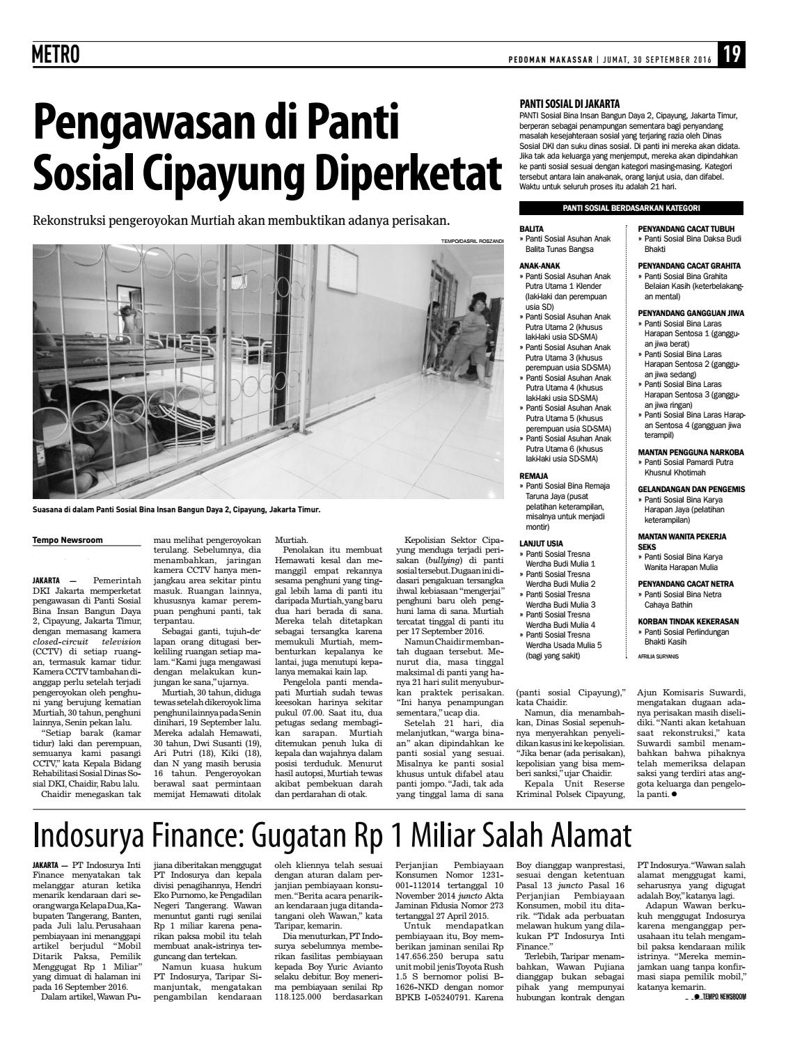 Edisi 59 30 September 2016 Pedoman Makassar By Indoaurya Life 3 Jiwa Issuu