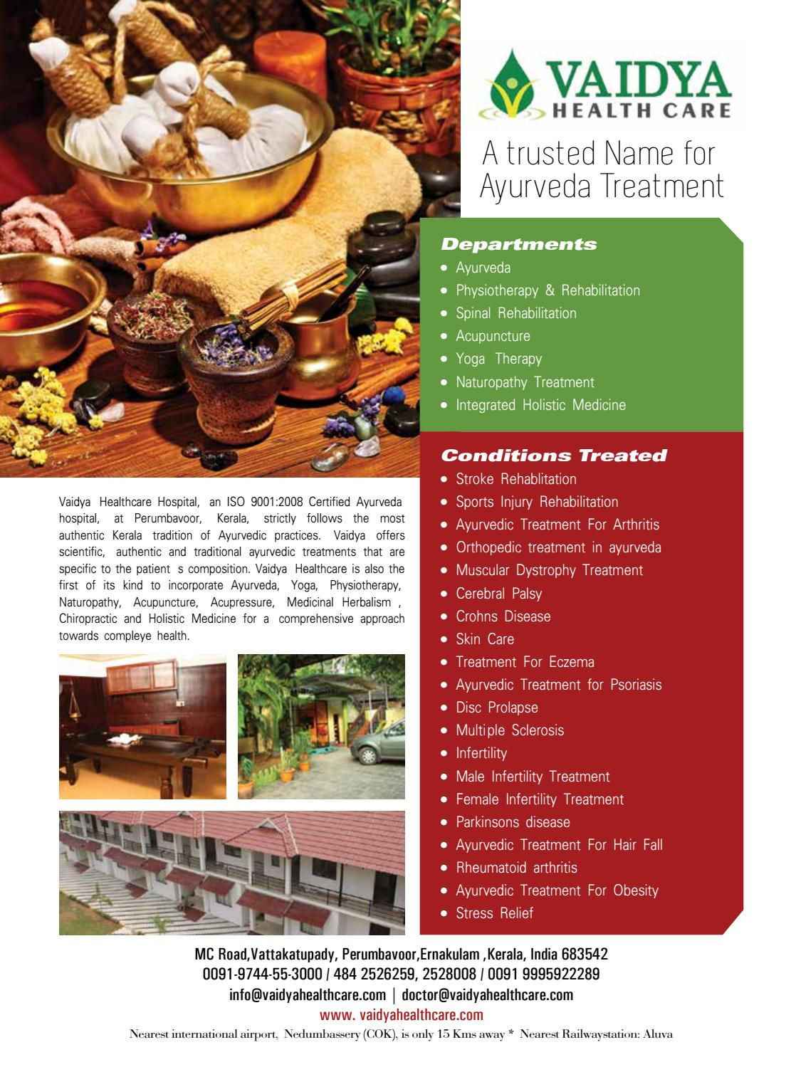 Ayurveda Magazine July - Sept by Ayurveda & Health Tourism