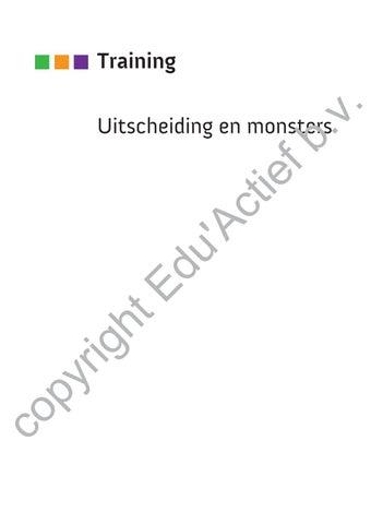 9789037234169 Uitscheiding En Monsters By Uitgeverij Eduactief Bv