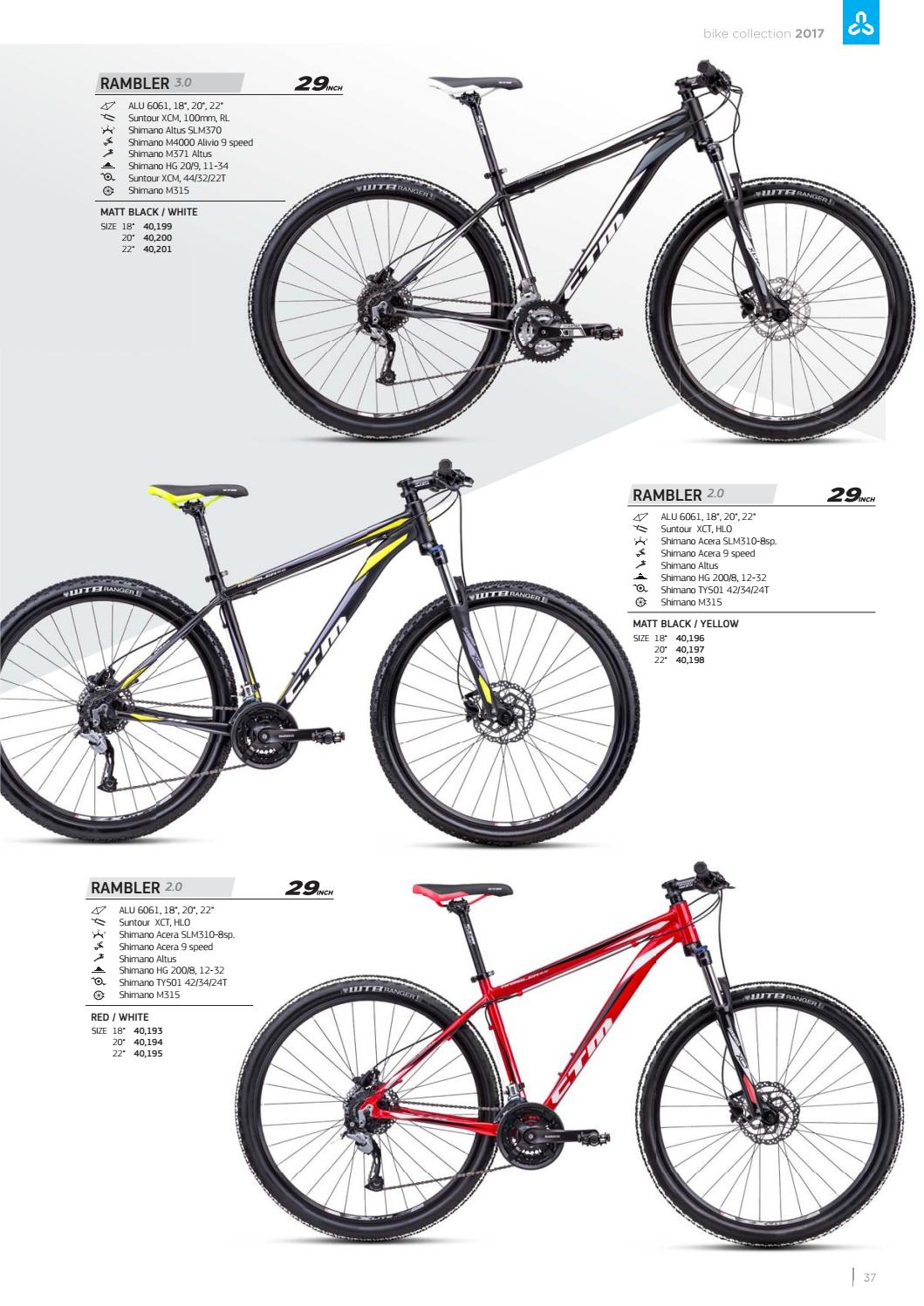Ctm 2017 Catalogue By Bikes Issuu Groupset Alivio 9 Speed M4000