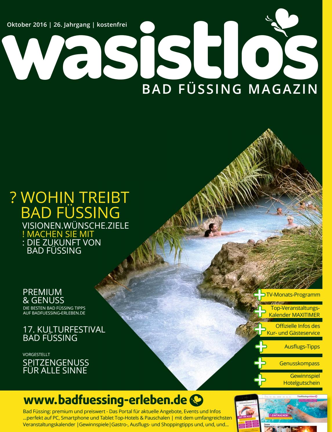Wasistlos Bad Fuessing Magazin Oktober 2016 by remark marketing + ...