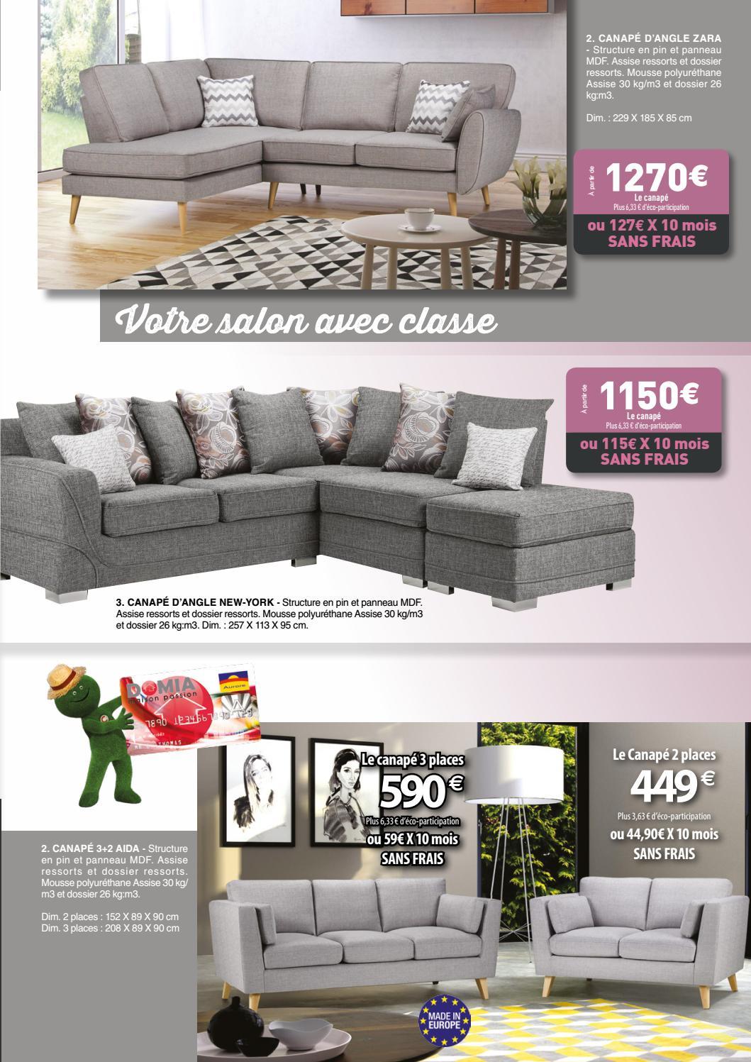 Mousse Polyuréthane 30 Kg M3 Canapé catalogue domia octobre 2016domia - issuu
