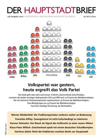 DER HAUPTSTADTBRIEF 138 by DER HAUPTSTADTBRIEF - issuu