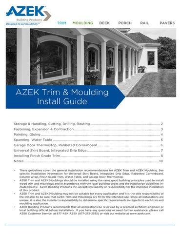 Azek Trim Install Guide