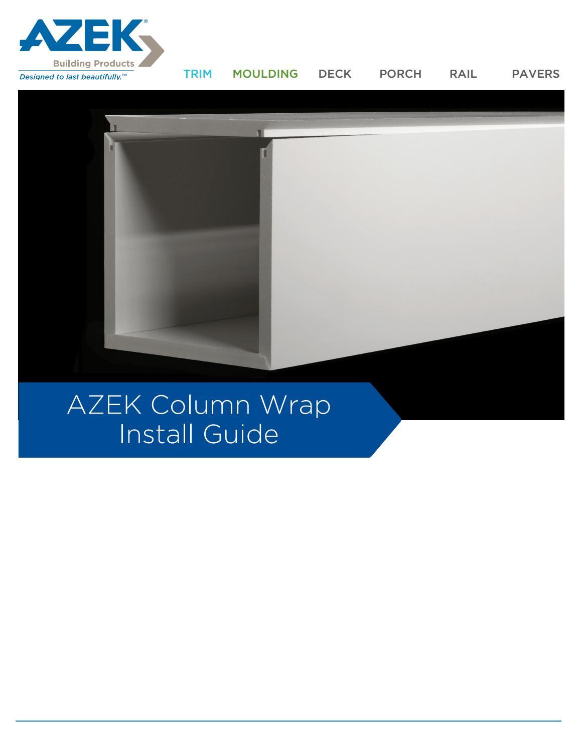 Azek Trim Column Wrap Install Guide