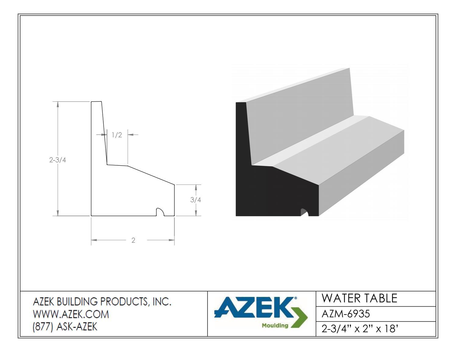 Azek Water Table Profiles – Wonderful Image Gallery