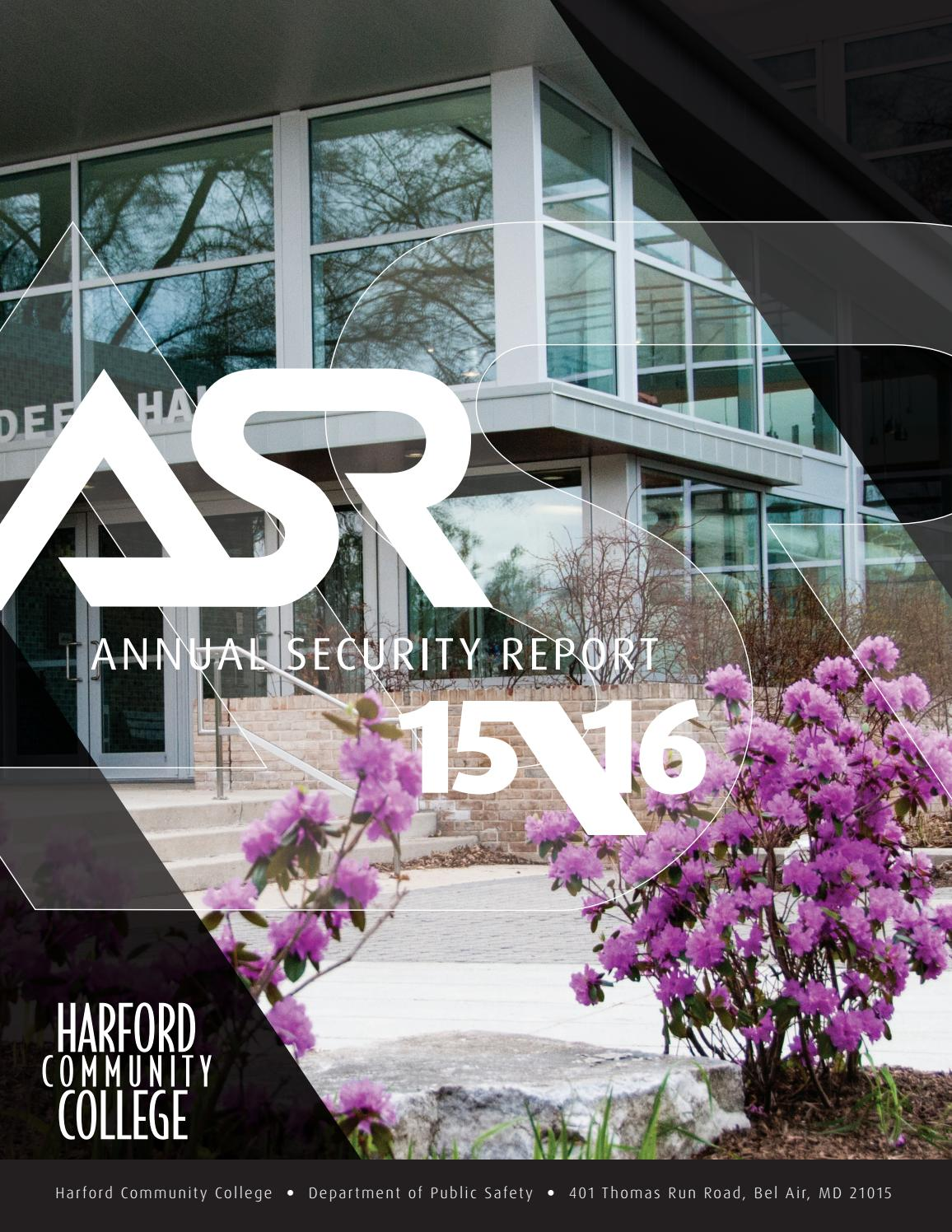 2015-2016 Annual Security Report by Harford Community