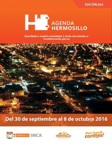 """Cover of """"Agenda Hermosillo 30 septiembre 2016"""""""
