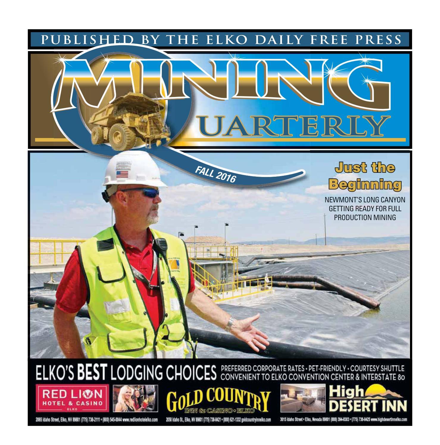 Mining Quarterly Fall 2016 edition by Elko Daily issuu