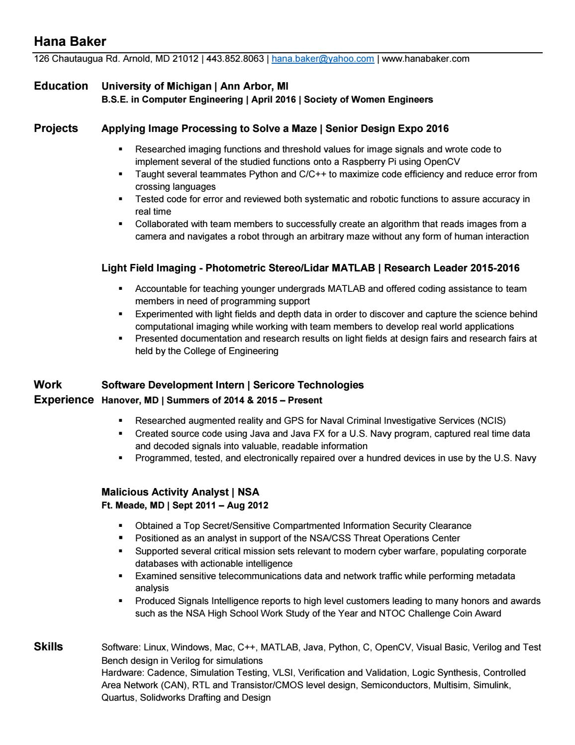 Resume by hanabaker - issuu