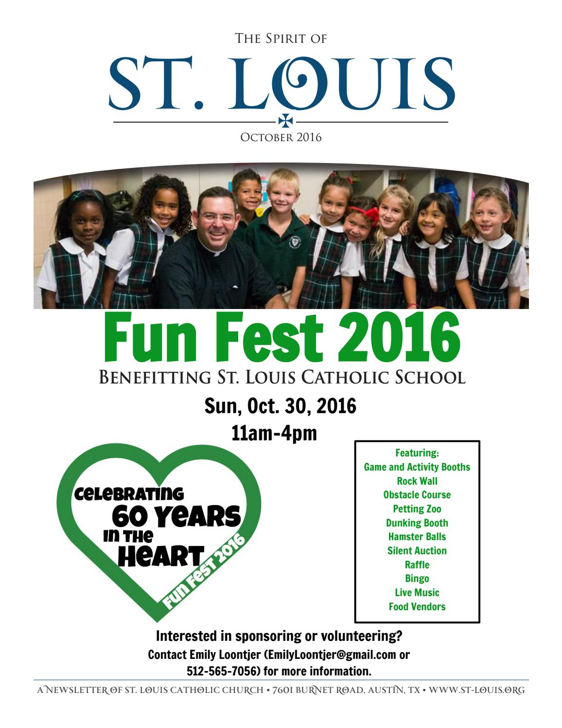 Dunking booth baptisms - The Spirit Of St Louis October 2016 By St Louis King Of France Catholic Church School Issuu