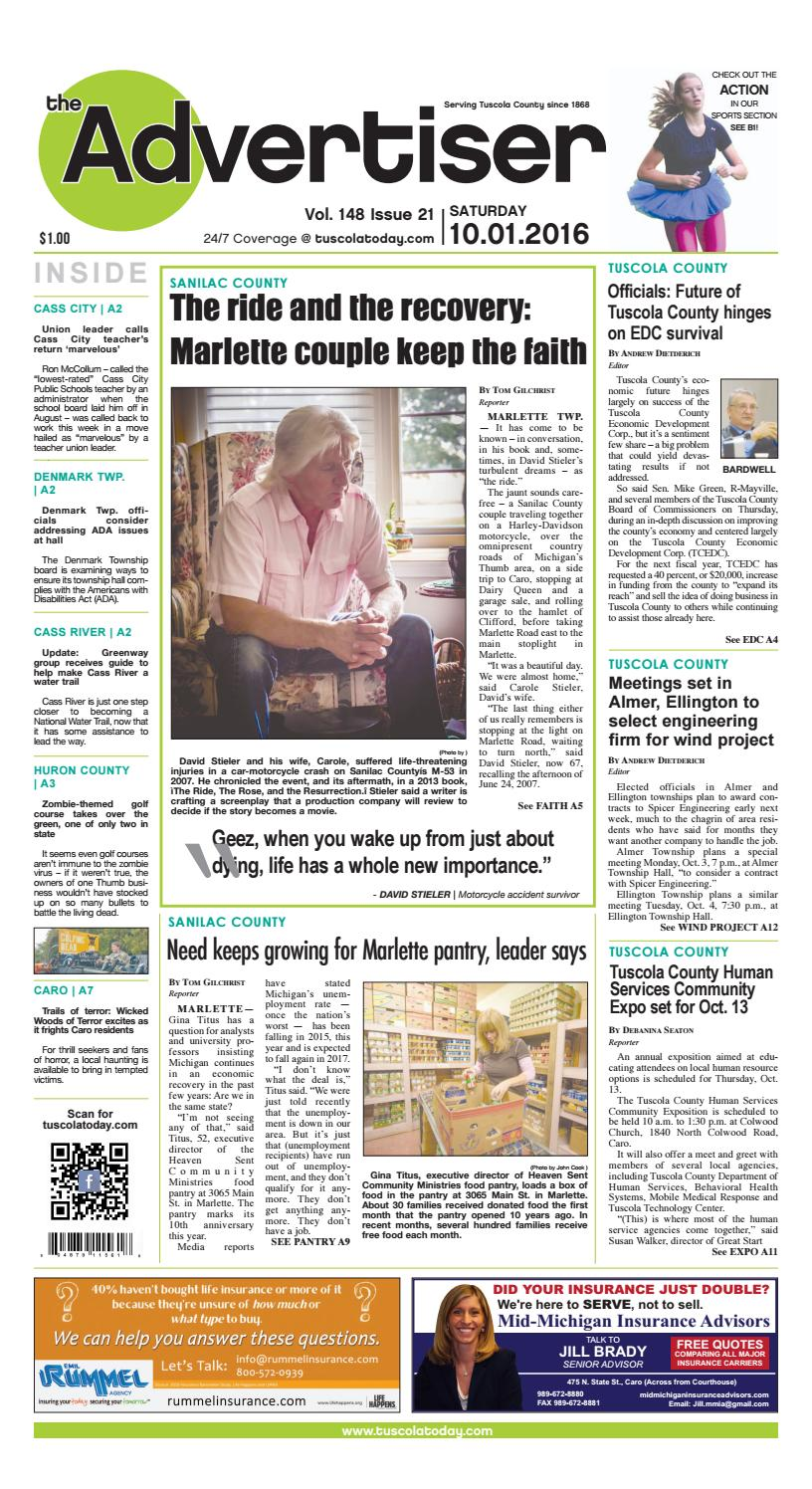 Tca 10 01 16 all pages by Tuscola County Advertiser - issuu