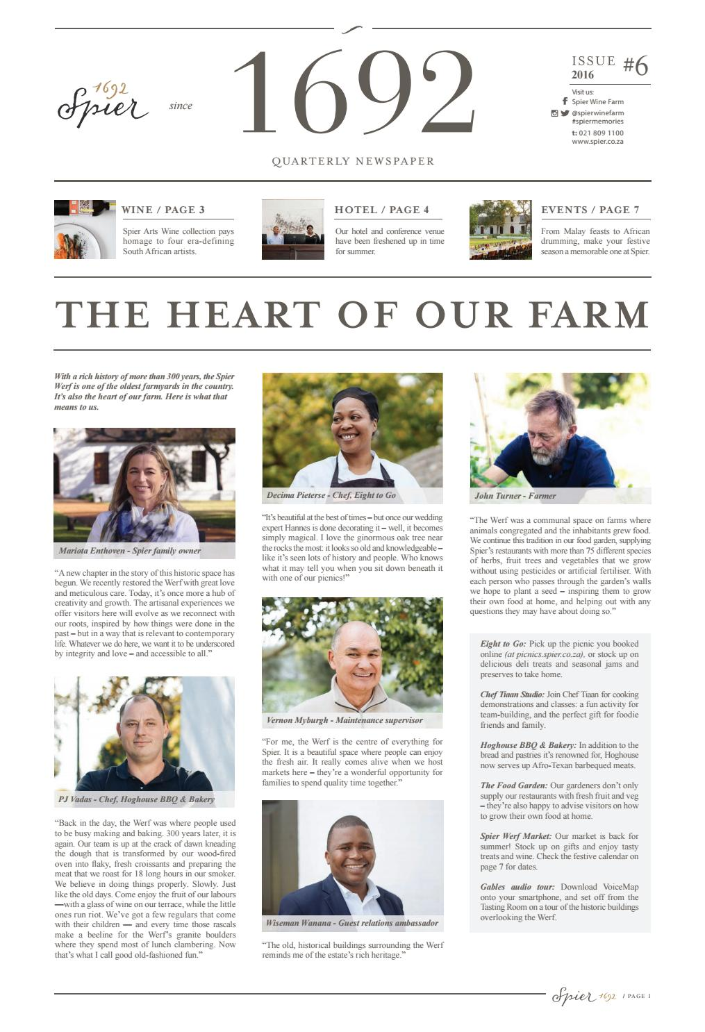 Spier Quarterly Newspaper Issue 7 By The Newspaper Issuu