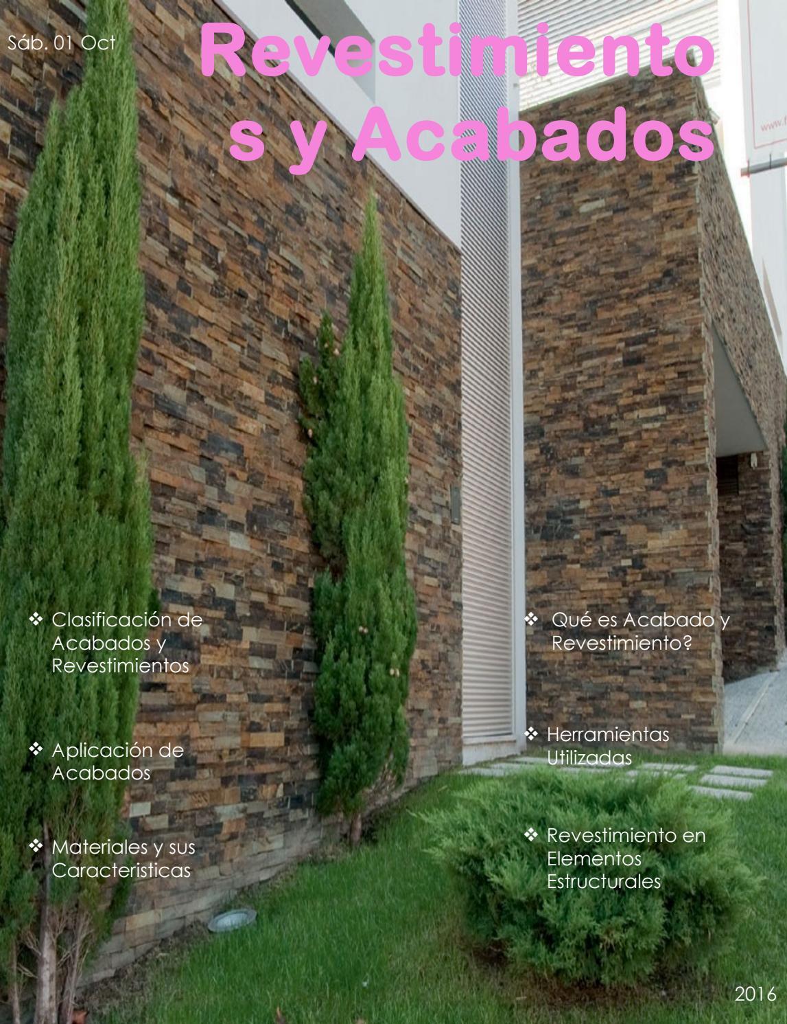 Revestimientos y acabados by alexisrv issuu - Revestimientos de muros exteriores ...
