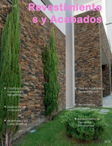 Revestimientos y acabados by alexisrv issuu for Revestimiento de ladrillo decorativo