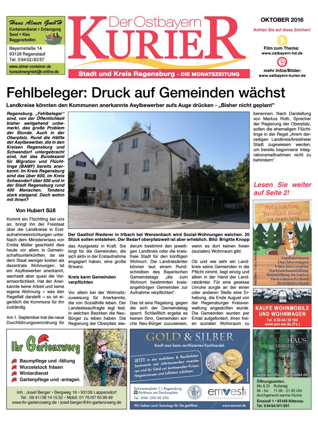 Sued ostbayern kurier oktober 2016 by Medienverlag Hubert Süß - issuu