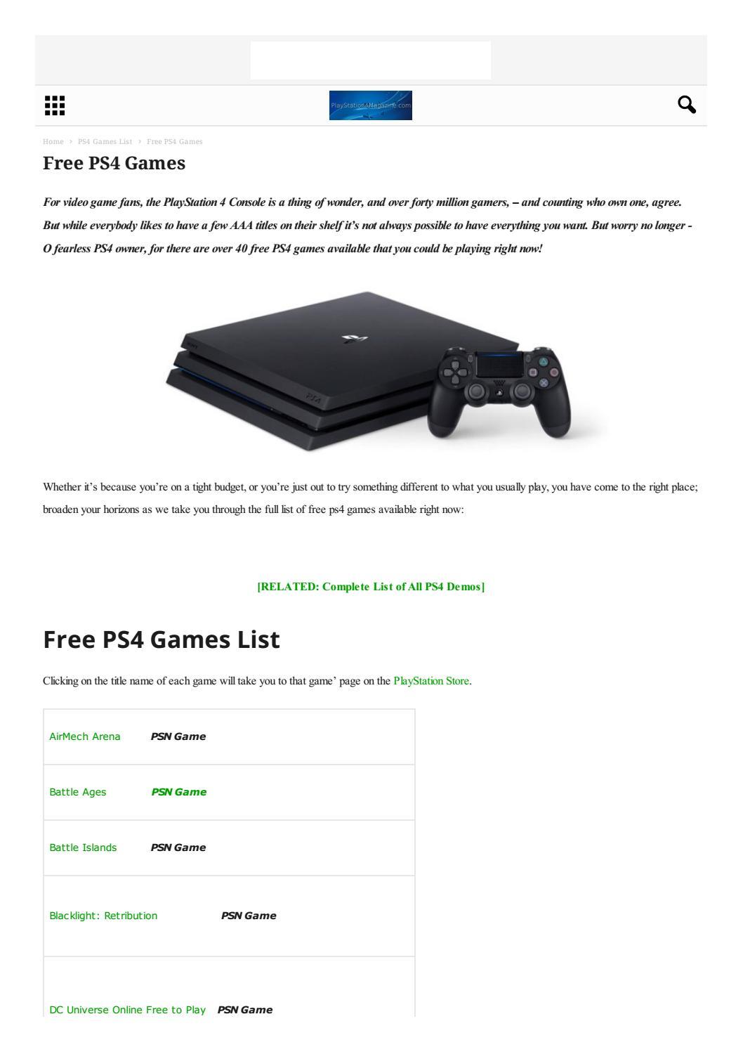 Free ps4 games pdf by TECH365 Digital Media - issuu