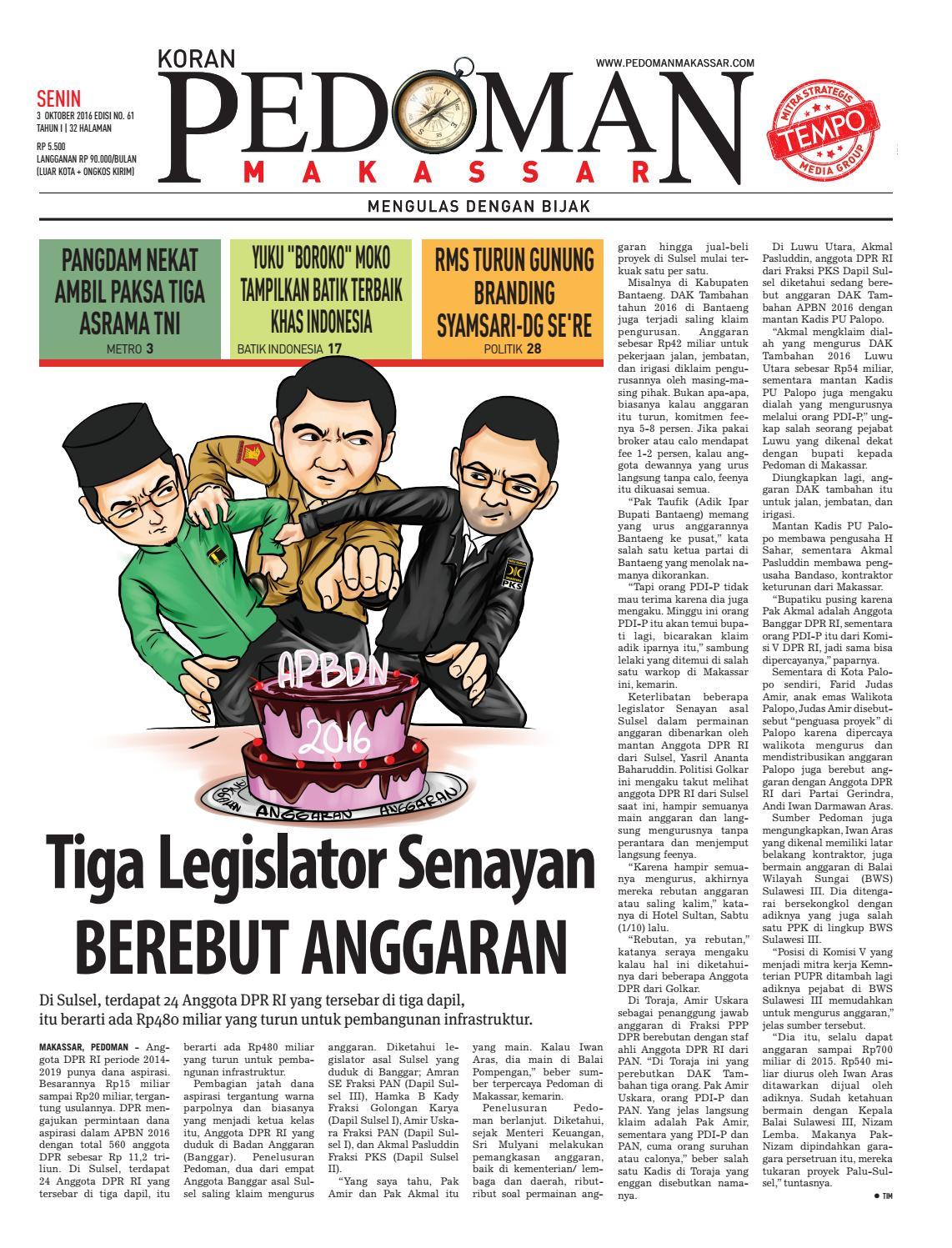 Edisi 61 3 Oktober 2016 Pedoman Makassar By Pedoman Makassar Issuu