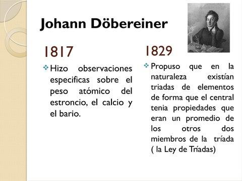 Desarrollo histrico de la tabla peridica by arturo issuu page 4 johann dbereiner urtaz Images