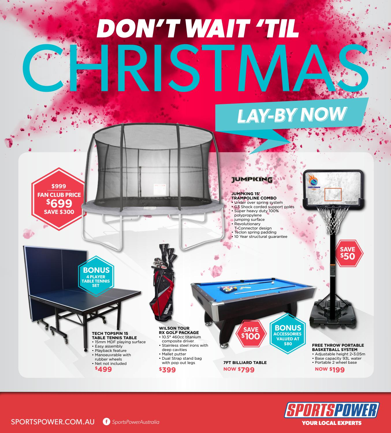 SPORTSPOWER - Don't wait until Christmas by Associated