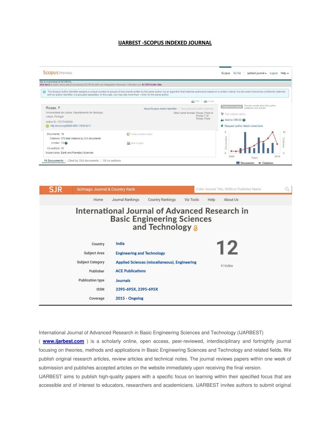 Ijarbest scopus indexed journal by IJARBEST - issuu