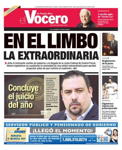 Edición 3 de Octubre 2016 by El Vocero de Puerto Rico - issuu 4ce3a4e2cbbf9