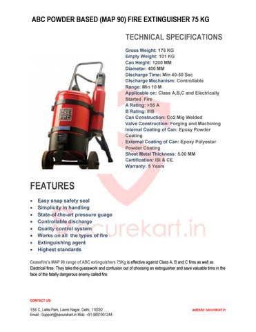 Map 90 Fire Extinguisher.Ceasefire Abc Fire Extinguisher Map 90 75kg Features