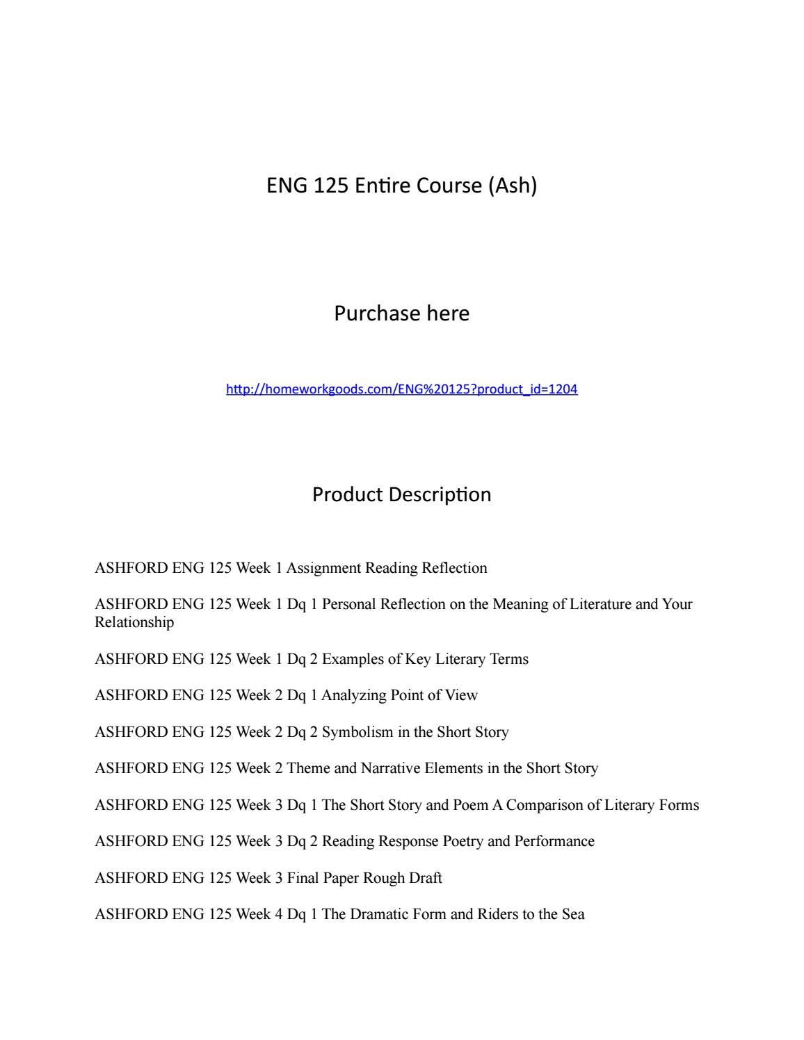 Eng 125 Entire Course Introduction To Literature By Donnajrogers Issuu
