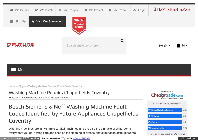 Www futureappliances com blog washing machine repairs chapel by