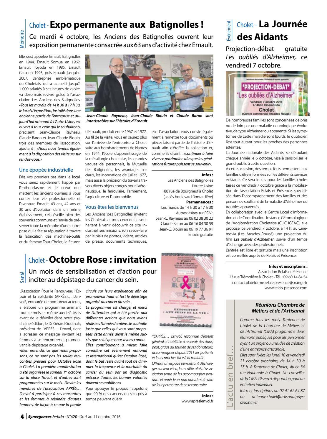 synergences hebdo n°420 by agglomération du choletais - issuu