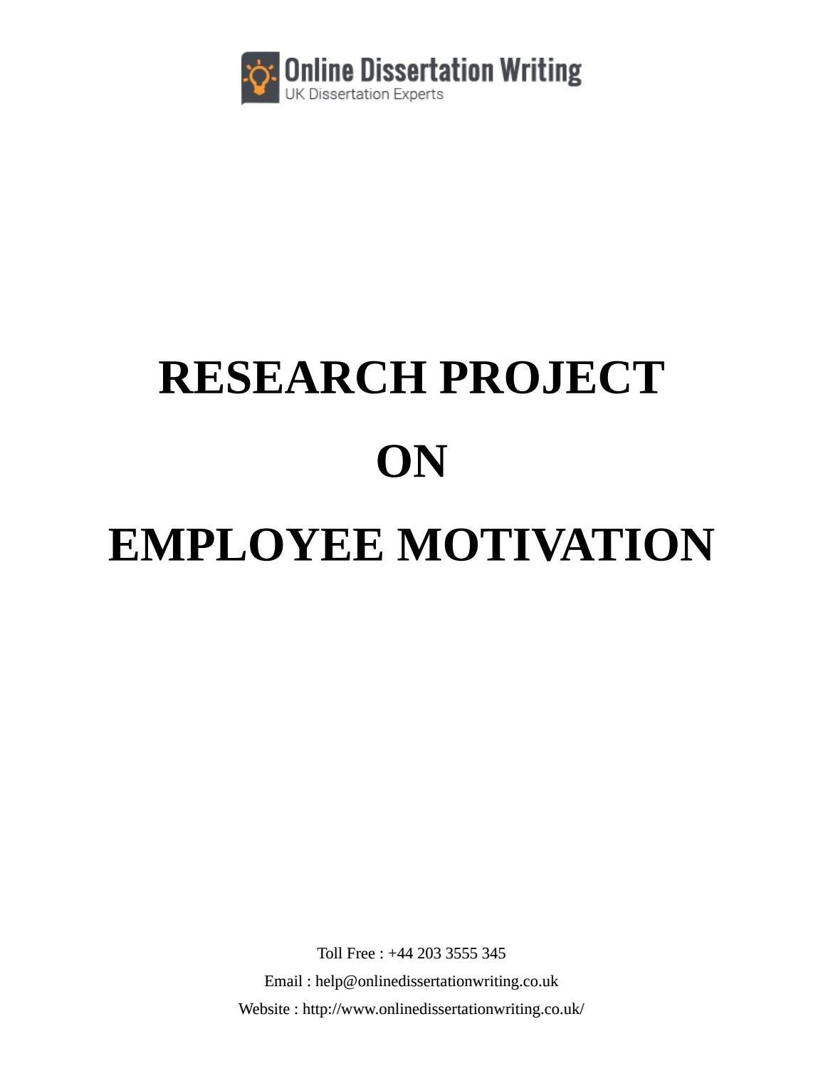 Employee Motivation Theories - Sample Dissertations