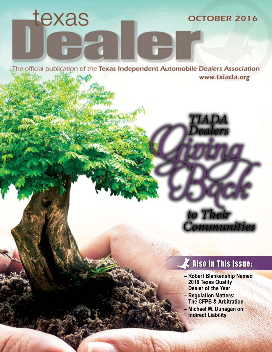 Texas Dealer October 2016 By Texas Independent Auto