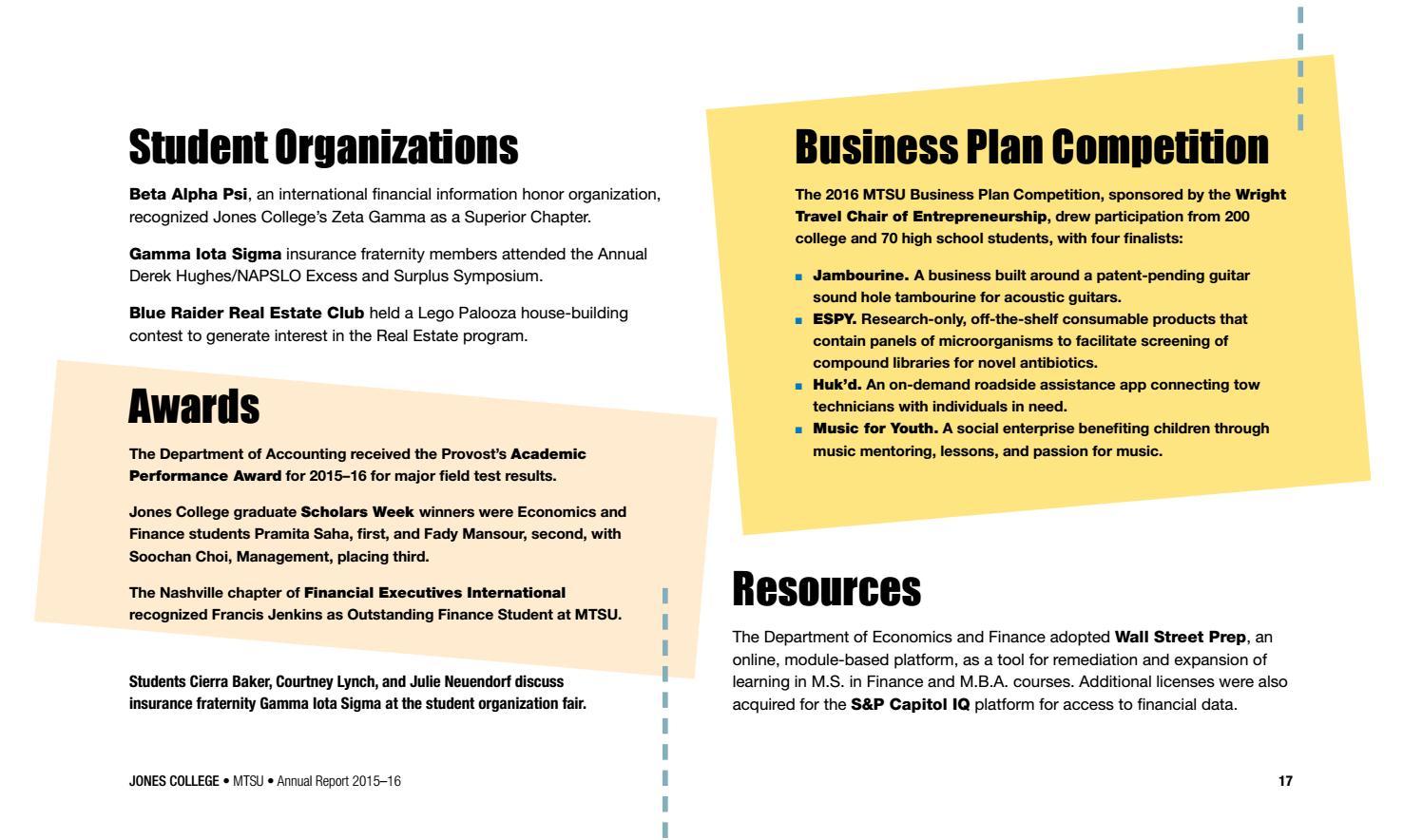Jones College of Business MTSU by MTSU Business and Economic