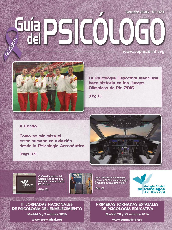 Guía del Psicólogo mes de Octubre 2016 by Colegio Oficial de ...