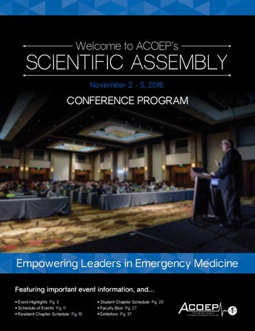 ACOEP's 2016 Scientific Assembly by ACOEP - issuu