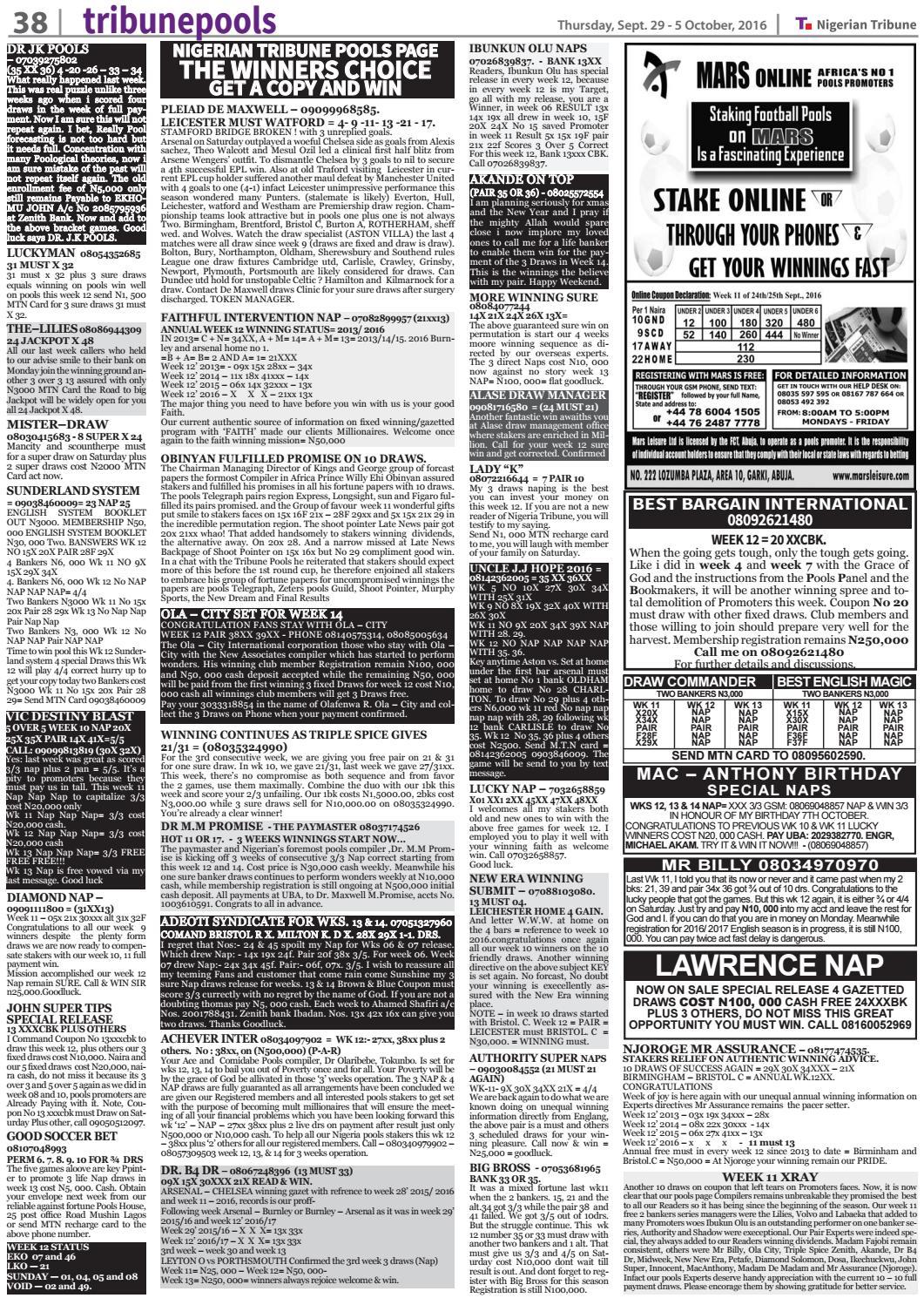 29th September 2016 by Nigerian Tribune - issuu