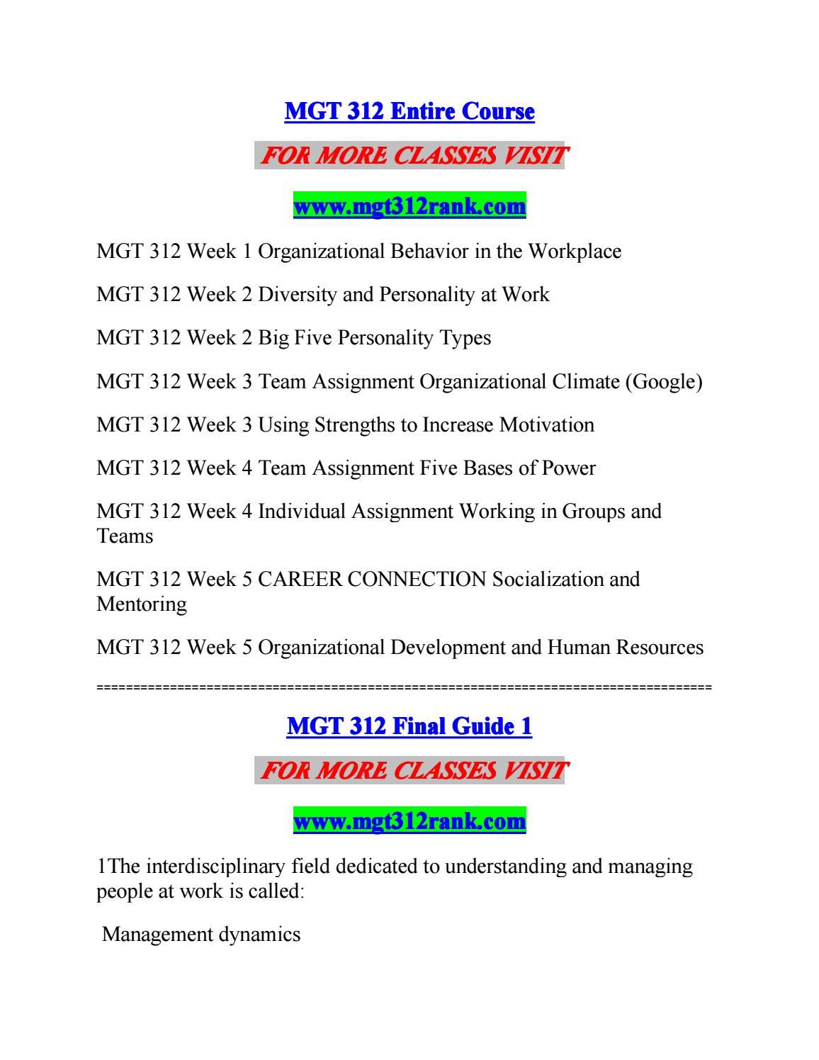 Mgt 312 Rank Enthusiastic Study Mgt312rank By