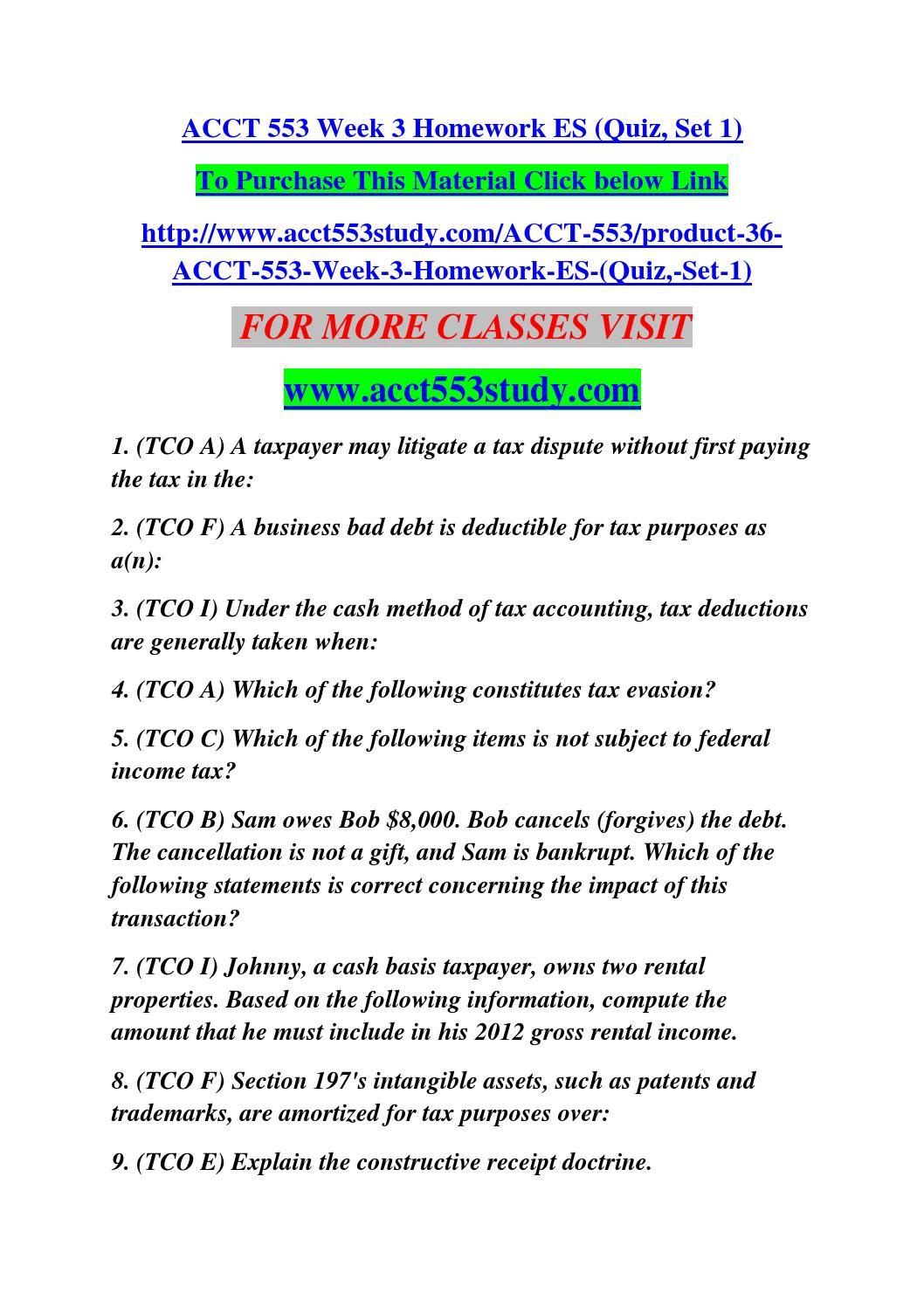 acct 553 week 3 homework es quiz set 1 by manu23 issuu