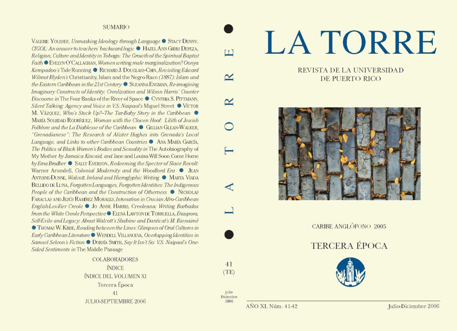 La Torre 2006 julio-diciembre (Caribe Anglófono 2005) by La